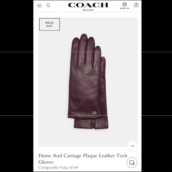 🎀💖Coach Horse and Carriage💖🎀 Tech Gloves